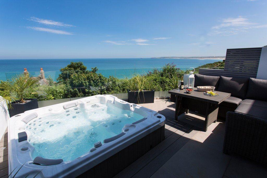 Hot Tub at One Atlantic Watch, Carbis Bay, Cornwall